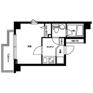 1K Mansion in Shimotakaido - Suginami-ku Floorplan