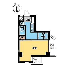 1R Mansion in Wakamatsucho - Shinjuku-ku Floorplan