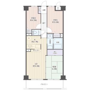 3LDK {building type} in Edacho - Yokohama-shi Aoba-ku Floorplan