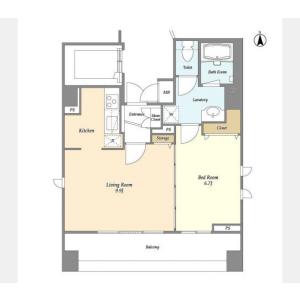1LDK Mansion in Shibuya - Shibuya-ku Floorplan