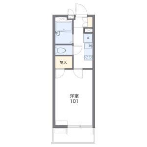1K Mansion in Kashiiekihigashi - Fukuoka-shi Higashi-ku Floorplan