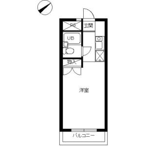 1K Mansion in Fuchinobehoncho - Sagamihara-shi Chuo-ku Floorplan