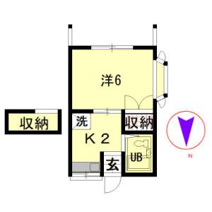 練馬区 桜台 1K アパート 間取り