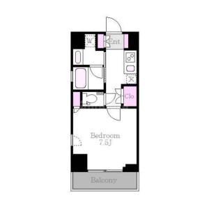 1K Apartment in Aobadai - Meguro-ku Floorplan