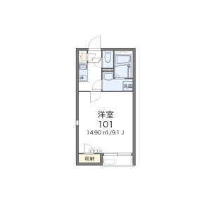 1K Apartment in Jiromaru - Fukuoka-shi Sawara-ku Floorplan