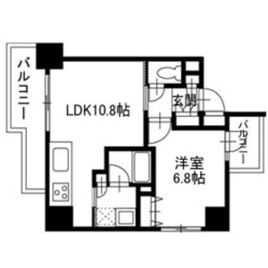 1LDK Apartment in Hommachinishi - Saitama-shi Chuo-ku Floorplan