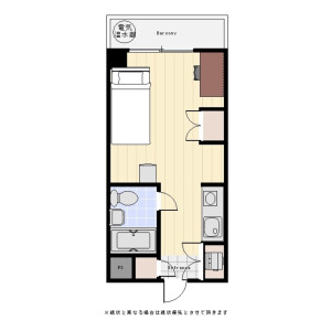 涩谷区東-1R公寓大厦 楼层布局