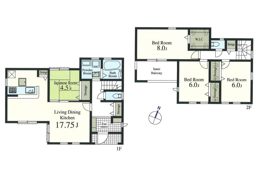 4LDK House to Buy in Iruma-shi Floorplan