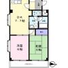 在江户川区内租赁2DK 公寓大厦 的 楼层布局