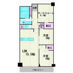 2SLDK Apartment in Kamata - Ota-ku Floorplan