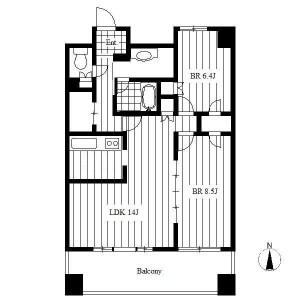 2LDK Apartment in Meieki - Nagoya-shi Nakamura-ku Floorplan