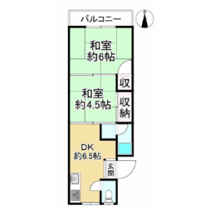 2DK {building type} in Amami kita - Matsubara-shi Floorplan