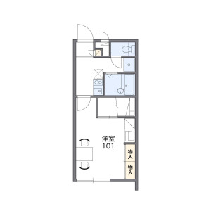 1K Mansion in Teruya - Okinawa-shi Floorplan