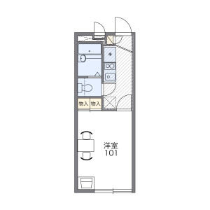 1K Apartment in Fuchinobehoncho - Sagamihara-shi Chuo-ku Floorplan
