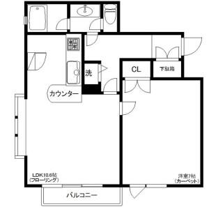 1LDK Mansion in Taishido - Setagaya-ku Floorplan