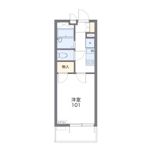 1K Mansion in Kugenuma kaigan - Fujisawa-shi Floorplan