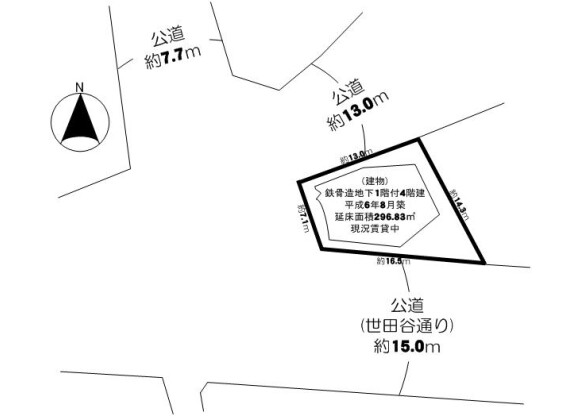 Whole Building Retail to Buy in Setagaya-ku Floorplan