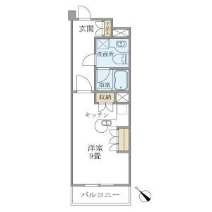 1R Mansion in Kamiyamacho - Shibuya-ku Floorplan