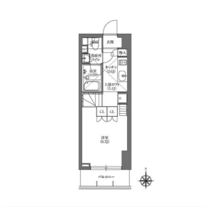 1K Mansion in Kikukawa - Sumida-ku Floorplan