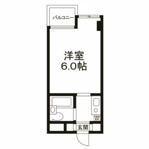 1K Apartment in Yoga - Setagaya-ku Floorplan