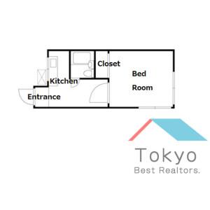 世田谷區赤堤-1K公寓 房間格局