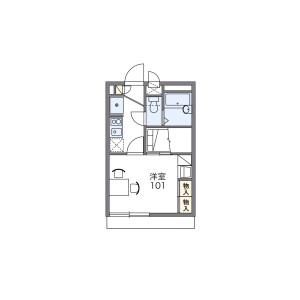 1K Apartment in Yawata nakayamacho - Nagahama-shi Floorplan