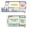 在京都市東山区购买2DK 独栋住宅的 楼层布局