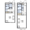 1K Apartment to Rent in Adachi-ku Floorplan