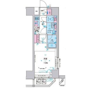 港区 - 三田 公寓 1K 房間格局