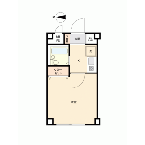 1R {building type} in Nogata - Nakano-ku Floorplan