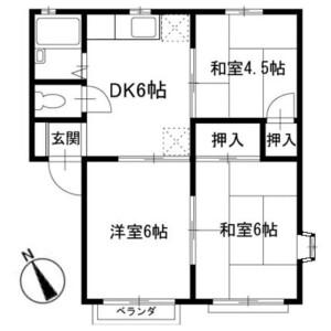 3DK Apartment in Nakano kamicho - Hachioji-shi Floorplan