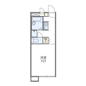 1K Apartment in Besshiyo - Yokohama-shi Minami-ku Floorplan