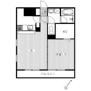 川崎市高津區諏訪-1LDK公寓大廈 房間格局