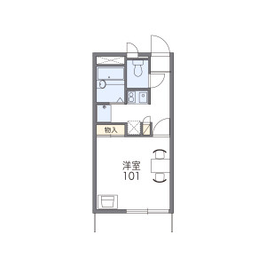 1K Apartment in Iwane - Kisarazu-shi Floorplan