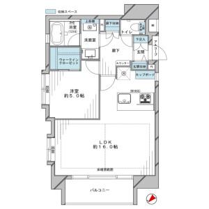 澀谷區神宮前-1LDK{building type} 房間格局