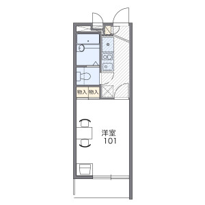 1K Mansion in Shikitsuhigashi - Osaka-shi Naniwa-ku Floorplan