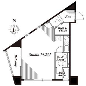 1R Apartment in Minamiaoyama - Minato-ku Floorplan