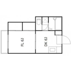 1DK Mansion in Naritahigashi - Suginami-ku Floorplan