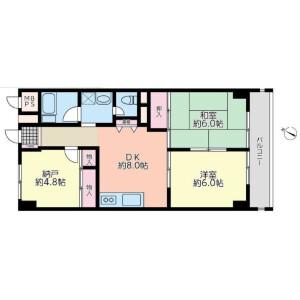3LDK {building type} in Fukuei - Ichikawa-shi Floorplan