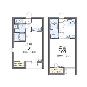 1K Apartment in Kamiseyacho - Yokohama-shi Seya-ku Floorplan