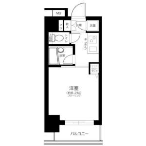 1K Apartment in Nishigotanda - Shinagawa-ku Floorplan