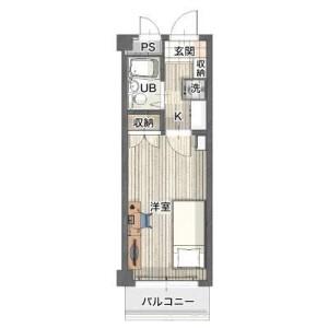 1K Mansion in Kandaiji - Yokohama-shi Kanagawa-ku Floorplan