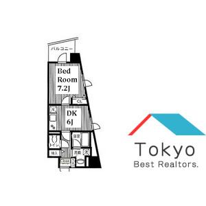 1DK Mansion in Maruyamacho - Shibuya-ku Floorplan