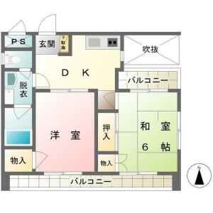 2DK Mansion in Higashitamagawa - Setagaya-ku Floorplan