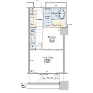1DK Mansion in Kamiikebukuro - Toshima-ku Floorplan