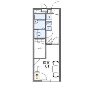 枚方市星丘-1K公寓 楼层布局