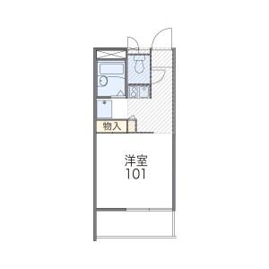1K Apartment in Saiwaicho - Fuchu-shi Floorplan