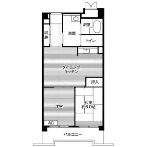 2LDK Mansion in Yashio - Shinagawa-ku Floorplan