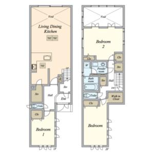 3SLDK House in Fukasawa - Setagaya-ku Floorplan