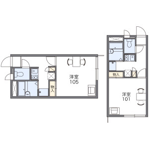1K Apartment in Fuchinobe - Sagamihara-shi Chuo-ku Floorplan